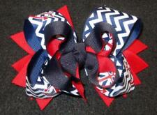 Nautical Girls Boutique Triple Layered Boutique Stacked Hair Bow Baby Hairbows