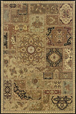 Beige Traditional - Persian/Oriental Boxes Border Area Rug Patchwork 239C2