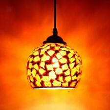 Mosaic Style Hanging Light Ceiling Pendant Lamp Retro Lampshade Cafe Restaurant