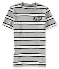 AEROPOSTALE MENS T-SHIRT LOGO GRAPHIC TEE SHIRT STRIPED STRIPES EMBROIDERED