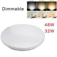 Dimmable LED Ceiling Panel Light Flash Mount Lamp 32W 48W Bedroom Downlight DN