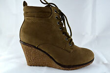 Wedge Heel Women's Shoes Ankle Boots Sneaker Size gr.36-41 Khaki NEW A.5066