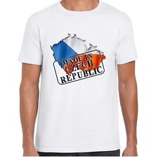 Made in Czech Republic - Flag and map - Mens T Shirt - Country, Gift, Tee