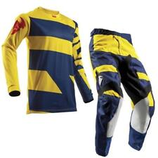 Thor Pulse Level Youth Motocross Children Jersey and Trousers 2018 - Blue Yellow