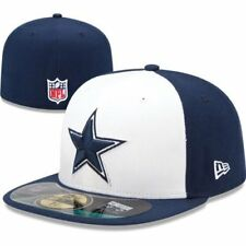 DALLAS COWBOYS NFL AUTHENTIC ON FIELD NEW ERA 59FIFTY FITTED BLUE/WHITE HAT NWT
