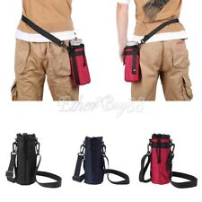 Water Bottle Carrier Insulated Cover Bag Warmer Outdoor Holder Strap Pouch