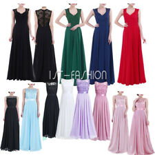 Women Long Formal Evening Prom Party Bridesmaid Chiffon Cocktail Wedding Dress
