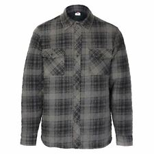 Lee Cooper Quilted Padded Shirt Mens Gents Full Length Sleeve Everyday Pattern