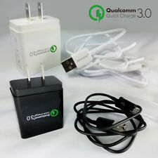 Quick Charge 3.0 Fast Wall Charger Micro USB Cable For HTC Desire One M7 M8 M9