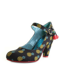Poetic Licence By Irregular Choice Right Stripes Black Yellow Shoes Heel Sz Size