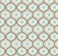 One For The Boys - Damask Blue Fabric by Riley Blake / Quilting / Patchwork