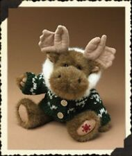 Boyds Plush 10 Inch Moose, Christmas, Spruce McMoose, Retired, New w/Tag, 904352