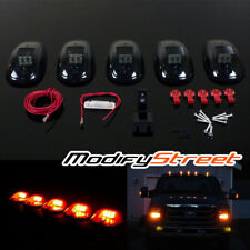 5 x AMBER LED SMOKED CAB ROOF TOP MAKER RUNNING LIGHTS LAMPS FOR SUV/TRUCK/JEEP