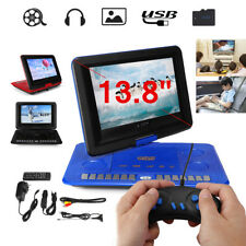 Portable 13.8'' DVD Player EVD TV Game Swivel Screen Remote Control USB SD Card