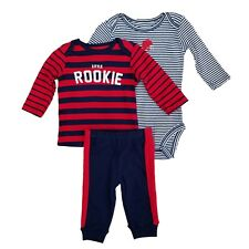 Carters Infant Boys 3-Piece Little Rookie Long Sleeve Shirt Bodysuit & Pants Set
