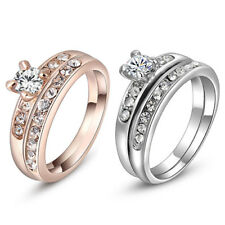 1 Set Knuckle Rings Women Rhinestone Finger Ring Wedding Fashion Jewelry Rapture