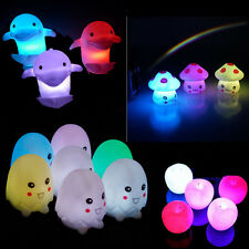 New Wedding Party Decor 7 Color Change Lovely LED Night Lamp Light Kid Gift Toy