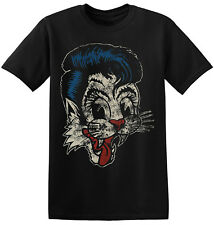 The Stray Cats T Shirt Rockabilly Vintage Rock Band Graphic Print Tee 1-A-040