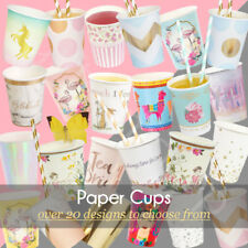Disposable PAPER CUPS 9/12oz Wedding Birthday Party Tableware Catering Supplies