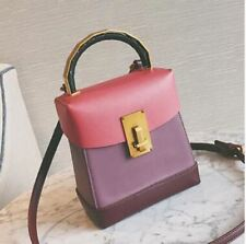 Women Pu Leather Flap Shape Interior Compartment Top Handle Cross Body Bag