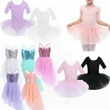 Kids Girls Birthday Party Ballet Costume Tutu Dance Leotard Skirt Dress Costume