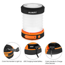 Suaoki Camping LED Lantern Hand Cranking Dynamo Power CollapsibleWater Resistant