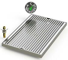 """10"""" X 16"""" Surface Mount Drip Tray with Drain"""