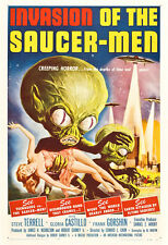 Invasion Of The Saucer-Men Movie Poster Print - 1957 - Sci-Fi - 1 Sheet Artwork