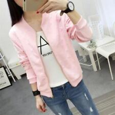 Zipper Closure 4 Color Stand Collar Long Sleeve Casual Jacket For Women