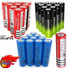 Ultrafire 10X 18650 Battery 3.7V Rechargeable Li-ion For Flashlight Torch