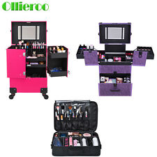 Lockable Makeup Trolley Rolling Beauty Nail Case Organizer Storage Box Cosmetic