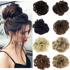 Hot Women Curly-Wave-Hair Bun Clip Comb In Hair Extension Chignon Hairpiece US
