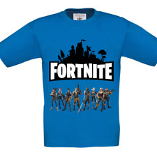 Blue Boys Fortnite Inspired T-Shirt Battle Royale Gaming Xbox PS4 PC Character