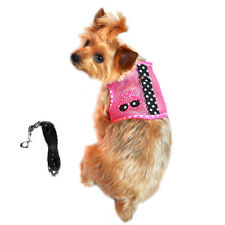 Cool Mesh Dog Harness Under the Sea Collection - Pink and Black Polka Dot Sungla