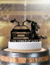 Delorean The Power Of Love Couple Wedding Cake Topper