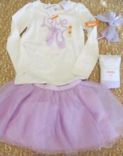 NWT 6 Gymboree Everyday Dress Up Ballet Shoes Shirt Tutu Silver Tights Headband