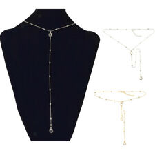 Stylish Y Lariat Chain Rhinestone Necklace for Women Girls Fashion Jewelry