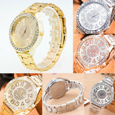 Ladies Bling Crystal Rhinestone Watches Party Dress Luxury Quartz Wrist Watch