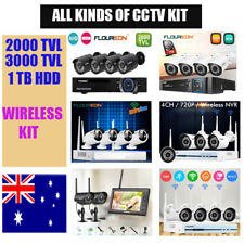 2000TVL/3000 TVL Camera 8CH DVR Home Security CCTV system +1TB HDD Wirelsss KIT