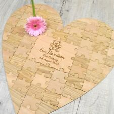 Personalized Heart Baby Shower Guestbook First 1st Birthday Jigsaw Puzzle Piece