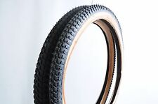 """SET 20 x 1.75 AND 20 x 2.125 OLD SCHOOL BMX """"SNAKE BELLY"""" TYRES BLACK AMBERWALL"""