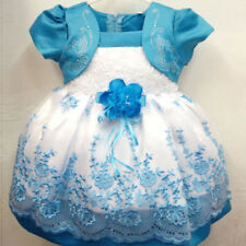 Flower Girls Summer Princess Bow Dress Toddler Baby Party Tutu Dress 1-4 Years