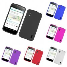 For LG Google Nexus 4 Hard Snap-On Rubberized Phone Skin Case Cover