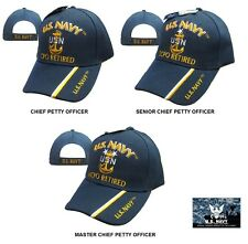 US Navy RETIRED Chief Petty Officer Ball Cap Senior Master CPO SCPO MCPO Hat NEW
