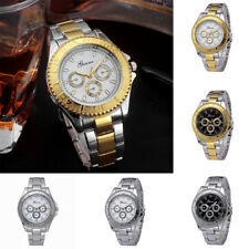 Mens Stainless Steel Fashion Quartz Analog Watch Casual Business Wrist Watches