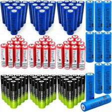 100Pcs 18650 3.7V Rechargeable Li-ion Battery + Charger For Torch Flashlight _