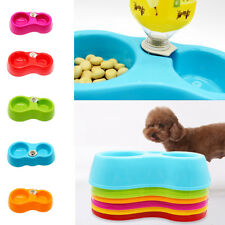 Pet Dog Puppy Cat Kitten Food Bowl Dish Feeder Automatic Water Dispenser Drinker