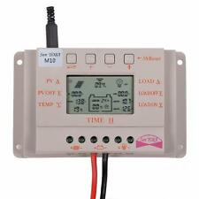LCD 10A 20A 30A Solar Panel Battery Regulator Charge Controller Auto 12V/24V MT