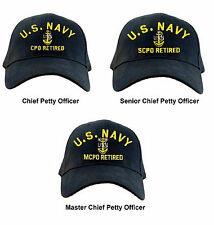 US Navy RETIRED Chief Petty Officer Ball Cap Senior Master CPO SCPO MCPO Hat