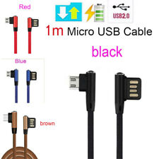 90° Double-sided plug Micro USB Sync Data Charger Cable for Samsung Sony Android